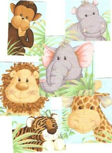 Cute-Jungle-Babies-Iron-On-Fabric-Appliques