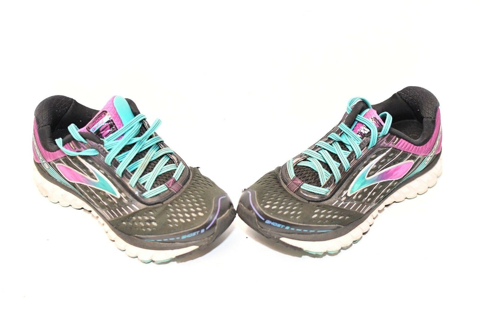 Brooks Ghost US 9 Running Shoes Women's US Ghost 7M Black Purple Teal 1202251D092 a47cf0