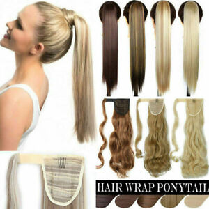 Curly-Straight-Claw-Jaw-Ponytail-Thick-Clip-In-Hair-Extensions-Wavy-Hairpiece