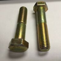 3/4-10 X 3 Hex Cap Screw Grade 8 Zinc & Yellow 25 Pounds Per Box