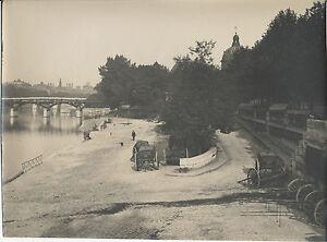 PHOTOGRAPHIE-QUAI-MALAQUAIS-PARIS-1918-TIRAGE-ARGENTIQUE-D-039-EPOQUE