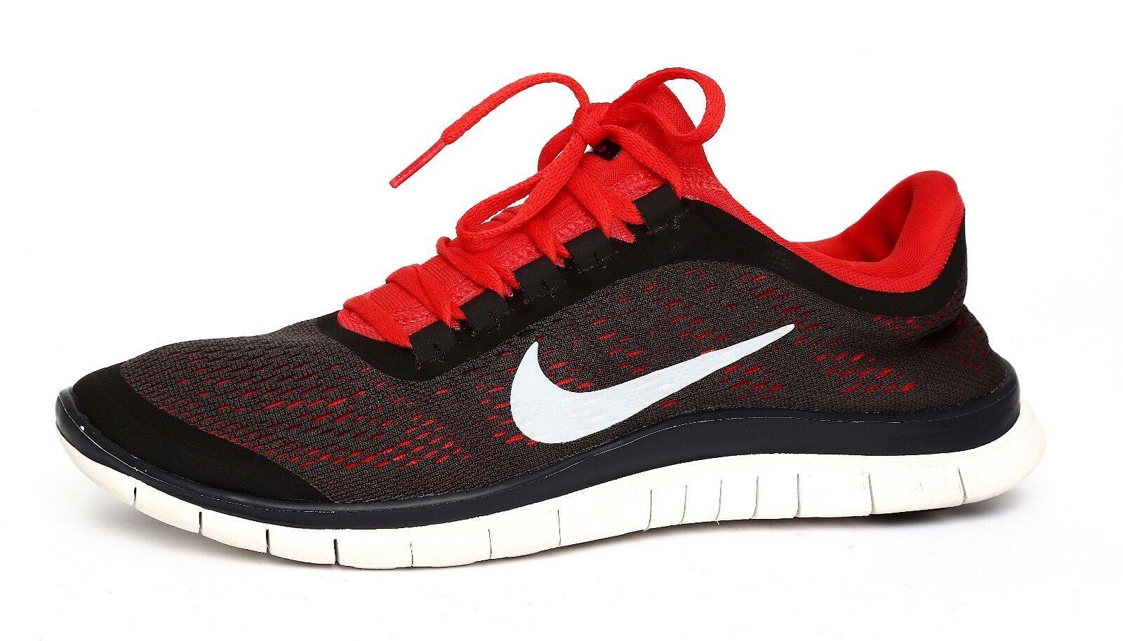 Nike Free 3.0 Men's Grey Red Running Sneaker Sz 8 5038