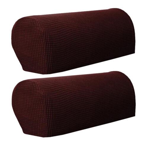 2pcs Premium Elastic Armrest Covers Fits for Most Sofa Arms,Soft Sofa Cover