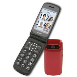 Olympia-Seniorenhandy-Primus-Senioren-Komfort-Mobiltelefon-mit-grossen-Tasten-Rot