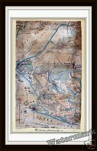 Historical-Wall-Art-Map-of-the-Civil-War-Hampton-Roads-Union-Army-1862-11x17