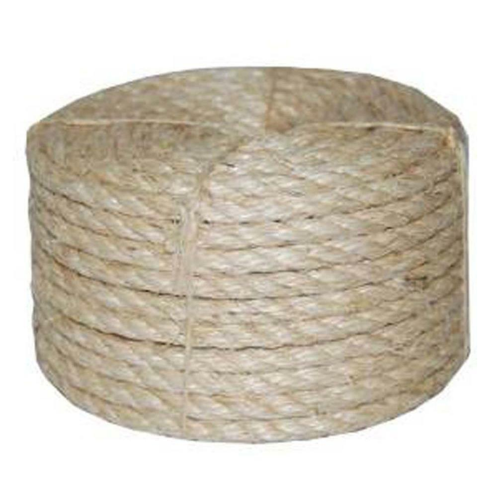 Brown Twisted Sisal Rope 1 4 Inch x 1500 Feet Biodegradable Natural Fiber String
