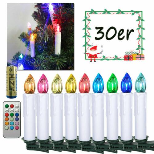 LED Weihnachtskerzen Weihnachtsbaumkerzen RGB Weihnachtsdeko kabellose Batterien