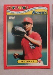 Details About 1990 Toys R Us Rookies Ken Hill Cardinals Baseball Card