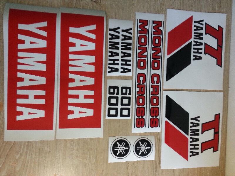 1983 Yamaha TT 600 stickers decals graphics kits