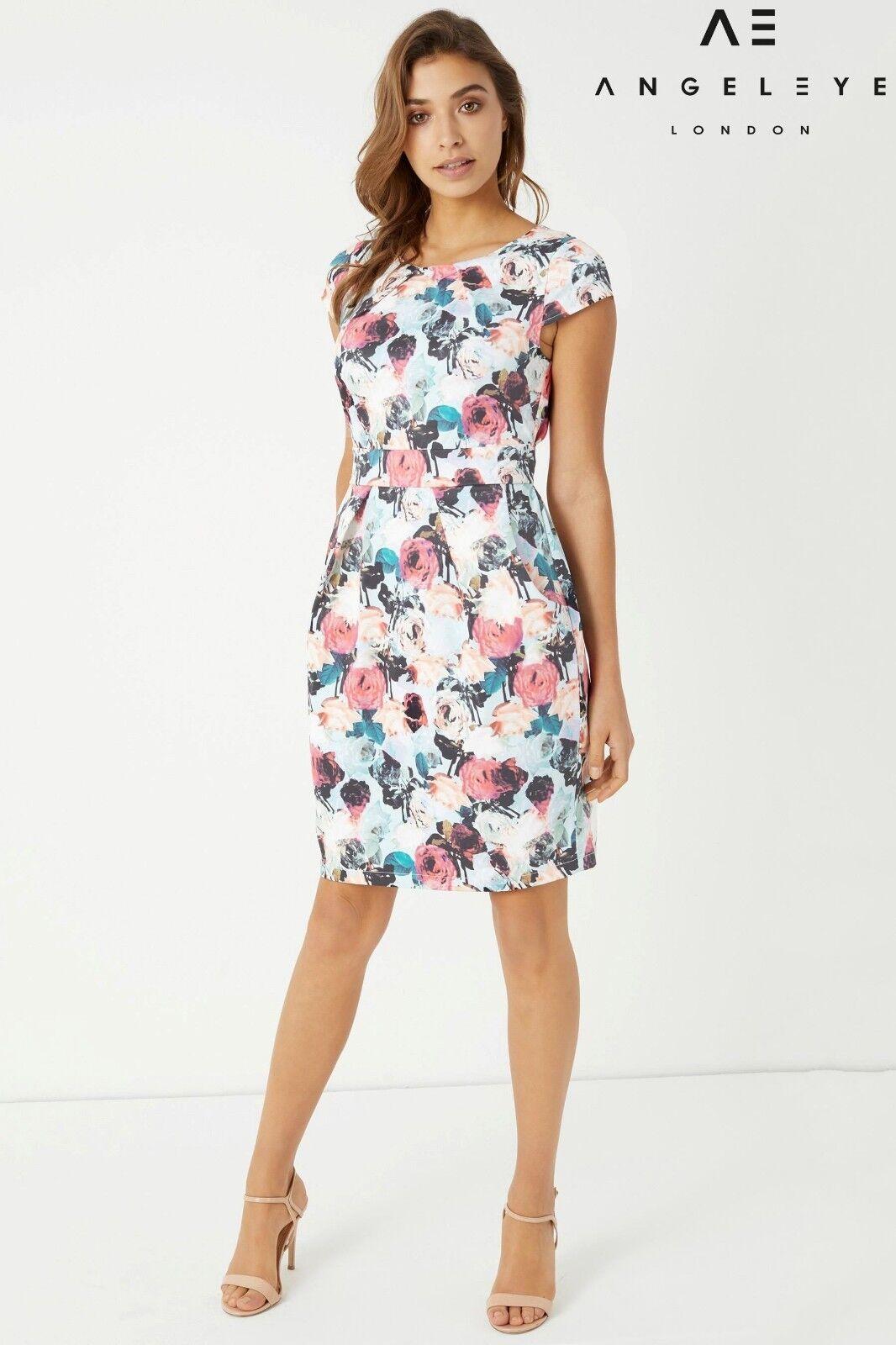 Angeleye Floral Print Pencil Dress - Größe UK18  BNWT
