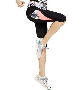 New-IDEOLOGY-Women-039-s-Color-Block-Printed-Capri-Cropped-Leggings-Yoga-Workout-XL