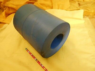 "BLUE NYLON TUBE machinable plastic bushing stock 6/"" OD x 2 3//4/"" ID x 7 1//2/"" OAL"