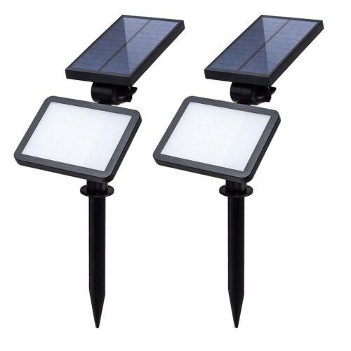 2X Luci Solari da Esterno senza fili Lampada Solare da Giardino con 48 LED