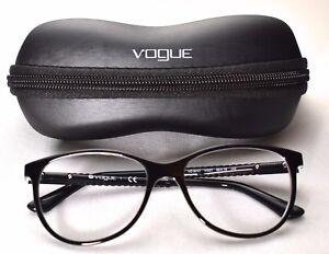 Vogue VO 5030 W827 Eyeglass Glasses Frames Black Transparent 53-16 ... ef2abd0730