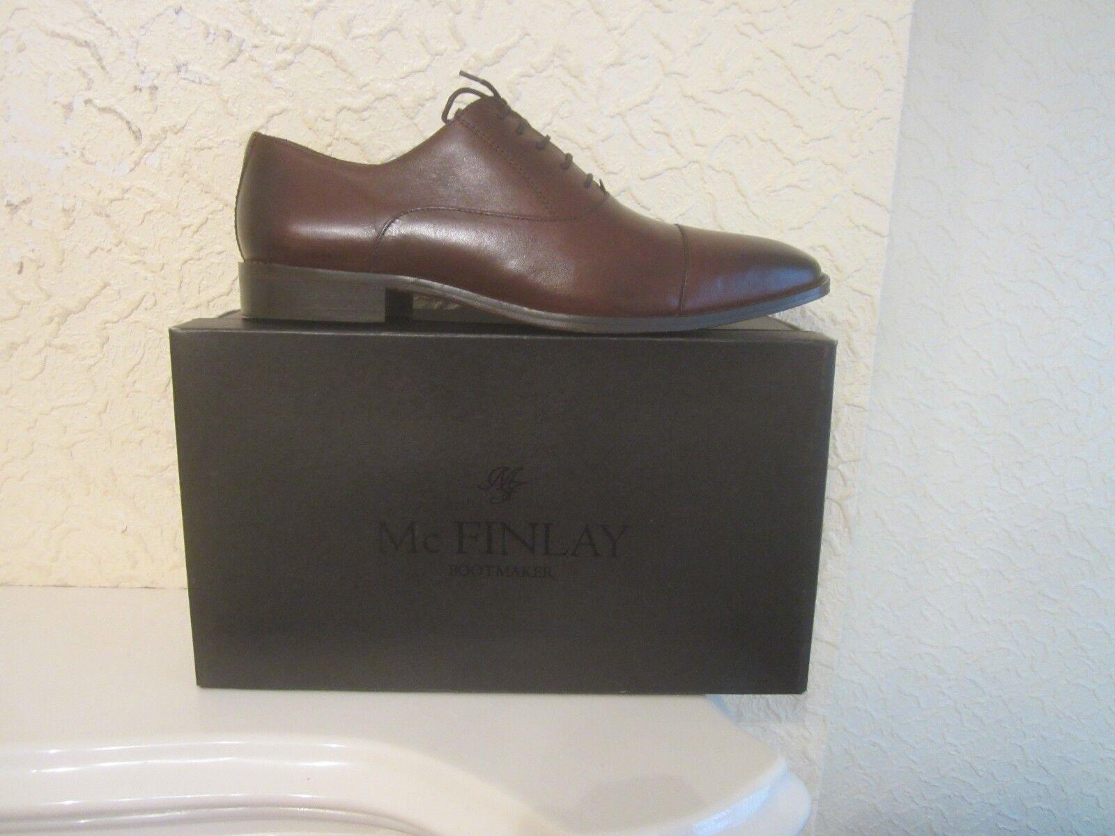 McFinlay McFinlay McFinlay Braun Burnished Leder Oxford Schuhes fcc074