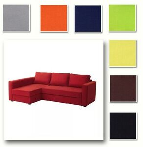 Custom Made Cover Fits IKEA Manstad Sofa Bed with Chaise Hidabed