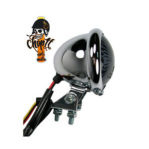 chrom led motorrad r cklicht bremslicht bates style smoked. Black Bedroom Furniture Sets. Home Design Ideas