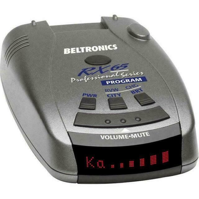 Beltronics RX65RED Professional Radar Detector - Black BRAND NEW SEALED.