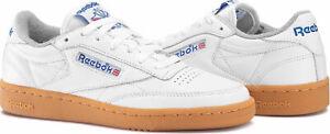 REEBOK-Classique-Homme-CLUB-C-85-Gum-Baskets-Blanc-Retro-Vintage-Nouveau-BNWT