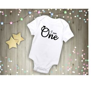 First Birthday Embroidered rompersuit Baby Grow Sleepsuit Girl Vest Clothes 1st