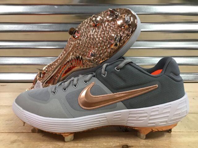 e29ed27aad6 Nike Alpha Huarache Elite 2 Low Baseball Cleats Grey Rose Gold SZ (  AJ6873-009
