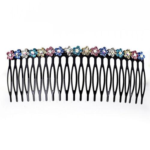 Women Girls Rhinestone Hair Comb Teeth Hair Comb Pin Clip Combs*Hair JewelrFNIU