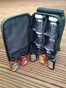 6 Glug Pots Glug Holdall Carryall Bag 5 Attractor Dips Carp Fishing Tackle