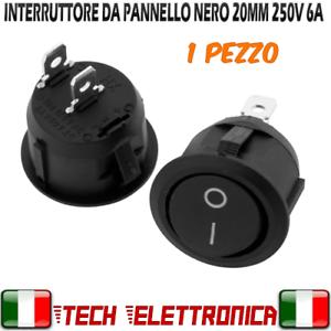 Interruttore-rocker-on-off-interruttore-rotondo-da-pannello-250V-6A-20mm-nero