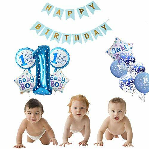 Kindergeburtstag Deko Jungen 1Jahr ballon1 Geburtstag Dekorationen für Junge