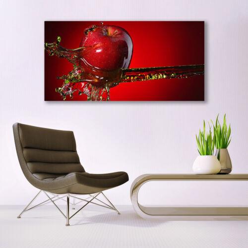 Glasbilder Wandbild Druck auf Glas 140x70 Apfel Wasser Küche