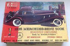 1935 MERCEDES-BENZ 500K ROADSTER LIMOUSINE MODEL KIT, JO-HAN, OPEN BOX, COMPLETE