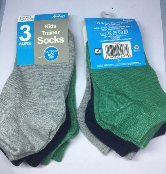 Di Alta Qualità Per Ragazzi Traine Socks Taglia 9-12uk Ue 27-30 Nuovo Grande Regalo Di Natale