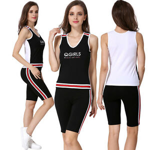 Details about Women's Clothing Athletic Apparel Ladies Sports Suits Women Sports Wear Sets