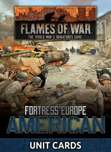 American Unit Cards Flames of War FW261U Fortress Europe