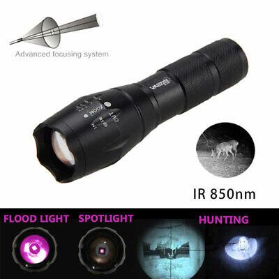 Long Range Zoom IR 850nm Infrarot LED Coyote Jagd Taschenlampe Nachtsicht Akku