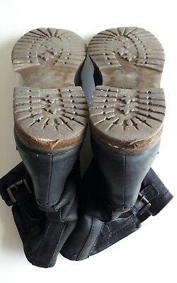 Boots, Halbstiefel, Stiefeletten, Schuhe, Leder, Damen, Schwarz, Gr. 38