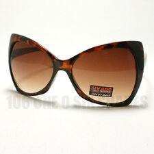 BOW Shaped Sunglasses for Womens Designer's Oversized Ribbon Fashion TORTOISE