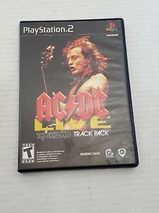 Play Station 2 AC DC Rockband Track Pack Video Game Disc Case Manual Cleaned