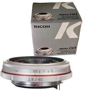 NEU Pentax HD Pentax DA 40mm f/2.8 Limited AF Objektiv (Silber) K Mount Pentax-DA