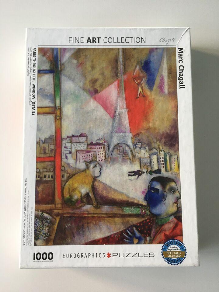 Puslespil chagall kunstpuslespil 1000 brikker ,
