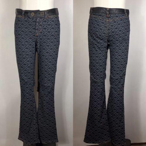 Rare Vtg Dolce & Gabbana D&G 00s Denim Logo Jeans