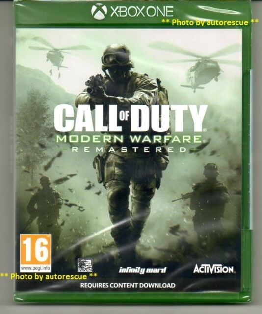 Call Of Duty Modern Warfare Remastered   'New & Sealed' *XBOX ONE (1)*