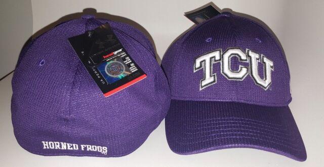 86317813 Under Armour TCU Baseball Cap Hat Purple and White - Large / XL HeatGear