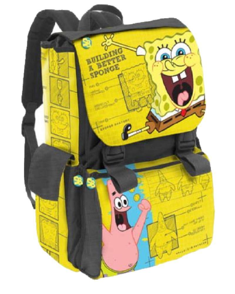 compra nuovo economico Zaino Scuola Scuola Scuola Estensibile Spongebob Giallo  14734 Nickelodeon  classico senza tempo
