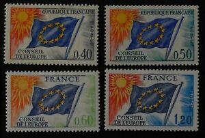 Timbre poste. FRANCE. CONSEIL DE L'EUROPE N° 31. 33. 46. 48