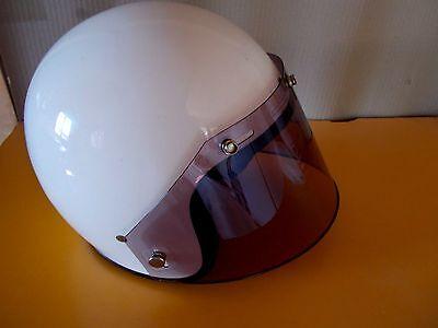 Vintage Motorcycle Helmet Universal 3 Snap Bubble Visor Smoke Z1R