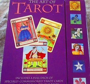 THE-ART-OF-TAROT-Liz-Dean-78-Card-Tarot-Deck-amp-Guidebook-Vintage-Esoteric-MINT