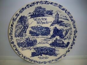 VINTAGE-SOUVENIR-PLATE-COLORADO-FOR-KAUFMAN-039-S-BY-VERNON-KILNS-10-1-2-INCHES