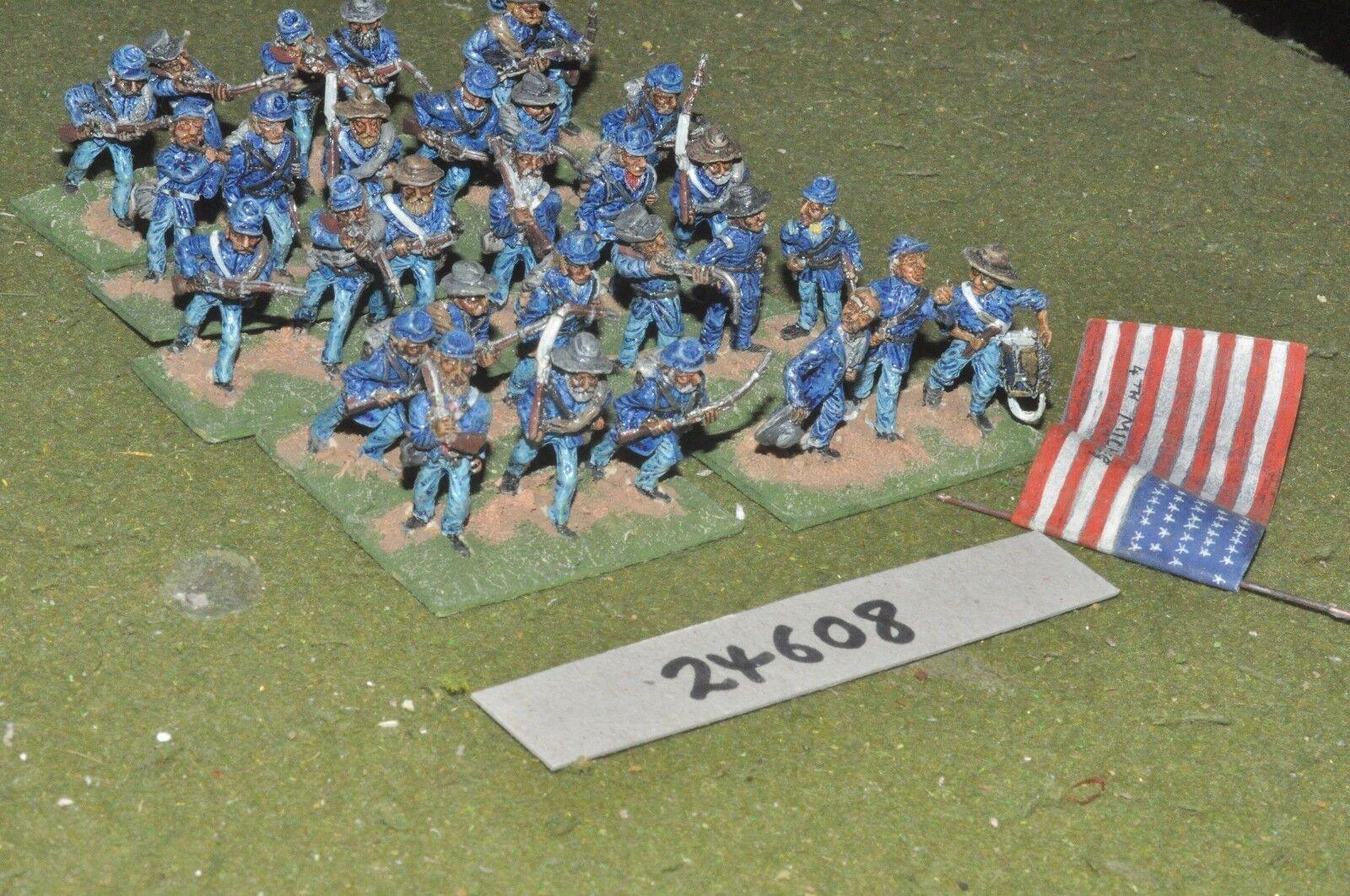 25mm ACW   union - regiment 30 figures - inf (24608)
