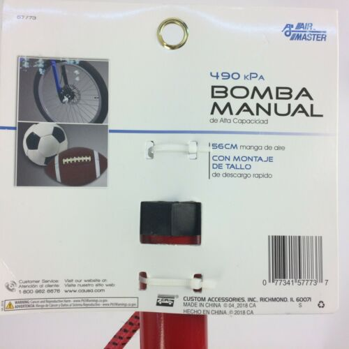 077341577737 Custom Accessories Air Master 70 psi Hand Pump